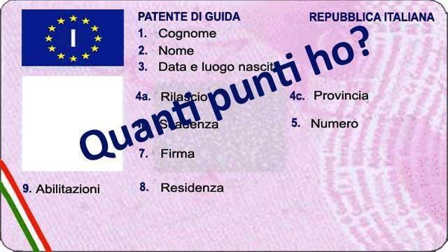 Ecco come tenere il conto dei punti patente