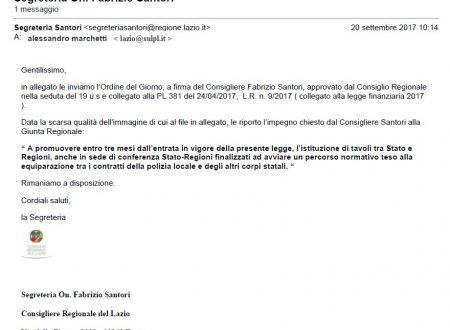 Grazie a SULPL e a Santori la Regione Lazio promuovera' tavolo Stato-Regioni su P.L.