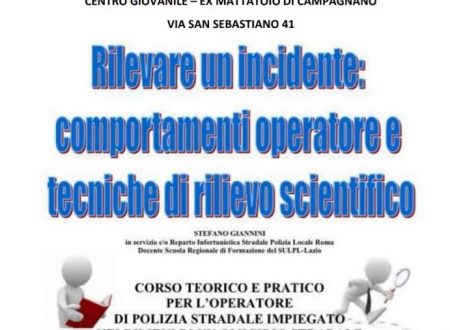 CAMPAGNANO DI ROMA: CORSO DI FORMAZIONE PROFESSIONALE il 06/12/2018