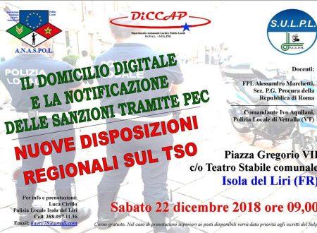 ISOLA DEL LIRI (FR): : CORSO DI FORMAZIONE PROFESSIONALE il 22/12/2018