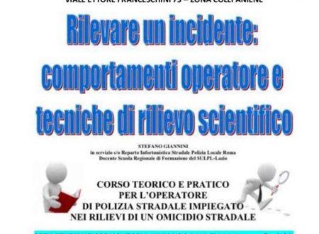 Corso di infortunistica stradale a Roma: 12 aprile 2019