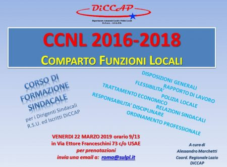 Formazione sindacale a Roma sul nuovo CCNL