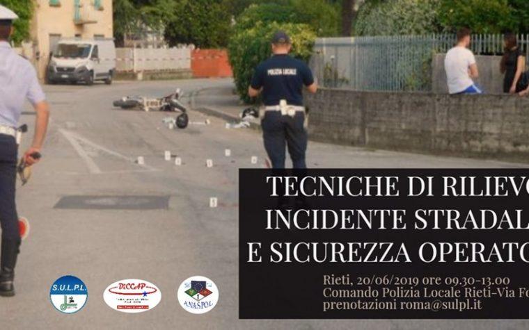 Corso di formazione a Rieti il 20 giugno 2019