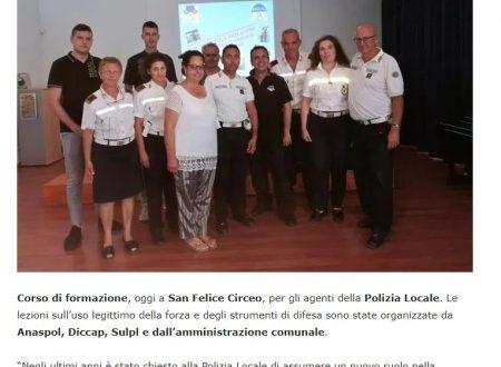Corso di self defence per la Polizia Locale di S.. Felice Circeo (LT)