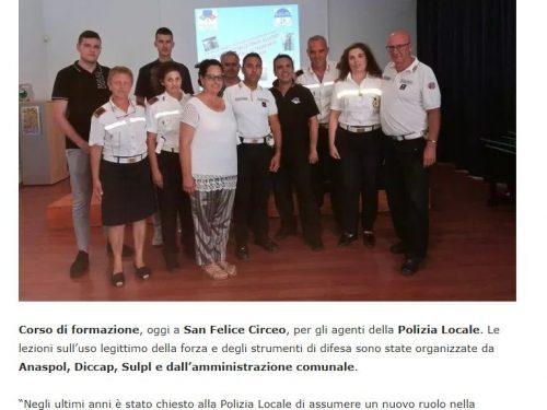 Corso di self defence per la Polizia Locale di S. Felice Circeo (LT)