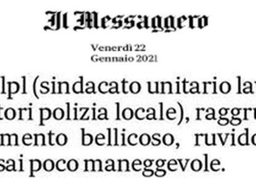 IL SULPL NON E' SERVO DEL PADRONE, LO RICONOSCE PURE IL MESSAGGERO