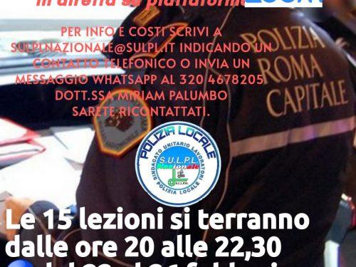 Roma – Corso di formazione per il concorso per aspiranti Agenti