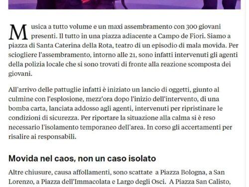 Roma: La Polizia Locale sempre più al centro della sicurezza urbana, ma i dirigenti ministeriali quando vanno nelle Commissioni Parlamentari… negano !!!