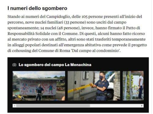 Roma: Polizia Locale sgombera campo nomadi, si fa sicurezza da impiegati in divisa. Parlamento approvi Riforma