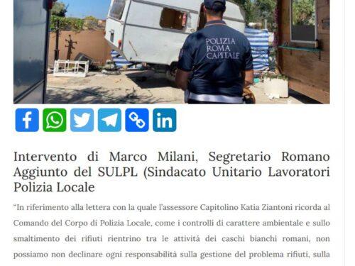 Il problema dei rifiuti di Roma non può essere addossato alla Polizia Locale